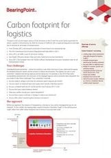 Carbon footprint for logistics