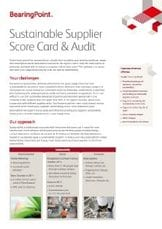 Sustainable Supplier Score Card & Audit