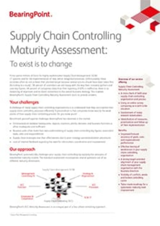 Supply Chain Controlling Maturity Assessment: To exist is to change