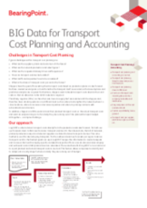 BIG Data for Transport – Cost Planning and Accounting