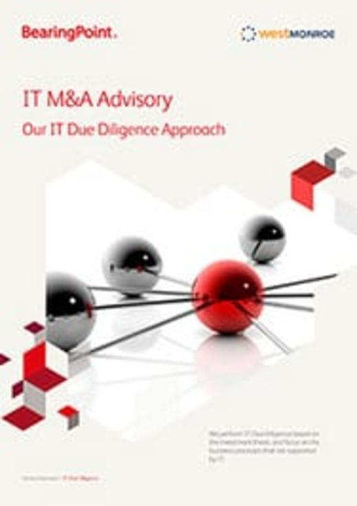 IT M&A Advisory - Our IT Due Diligence Approach (englischsprachige Publikation)