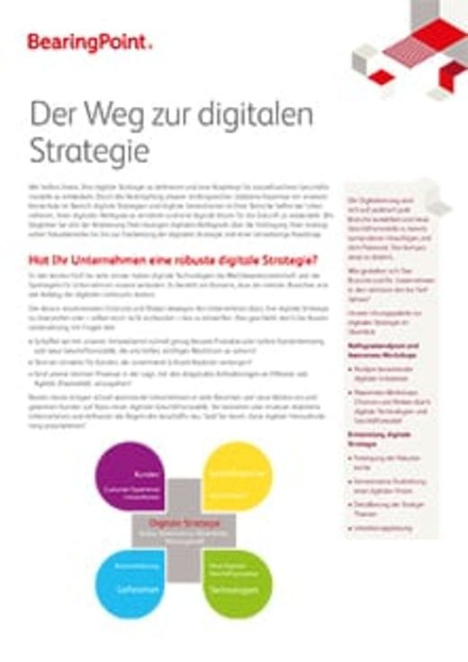 Der Weg zur digitalen Strategie