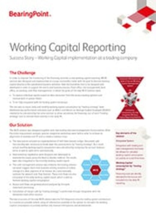 Fact Sheet - Working Capital Reporting