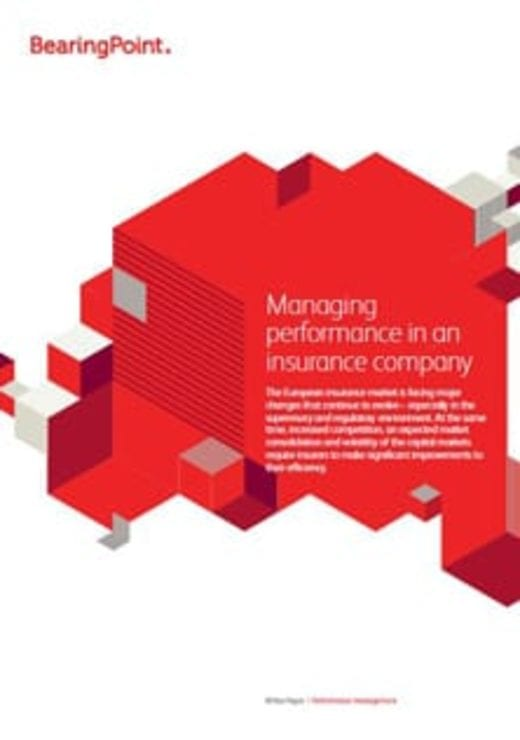 Managing performance in an insurance company