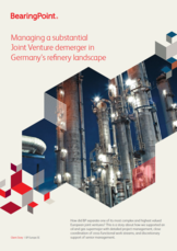 Managing a substantial Joint Venture demerger in Germany's refinery landscape
