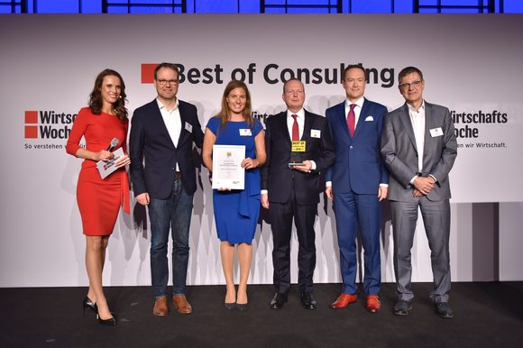 "Best of Consulting 2019 - Gewinner in der Sonderkategorie ""Sustainable Finance"" mit der KFW"