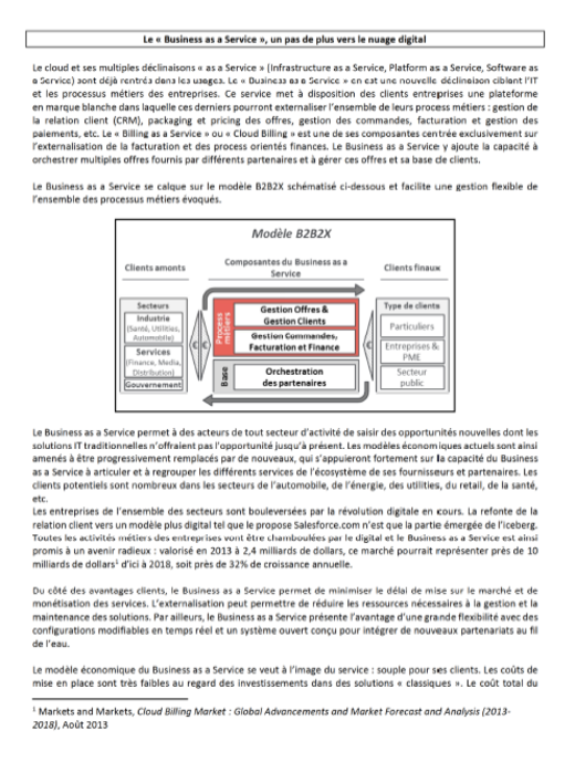 "Le ""Business as a Service"", un pas de plus vers le nuage digital"