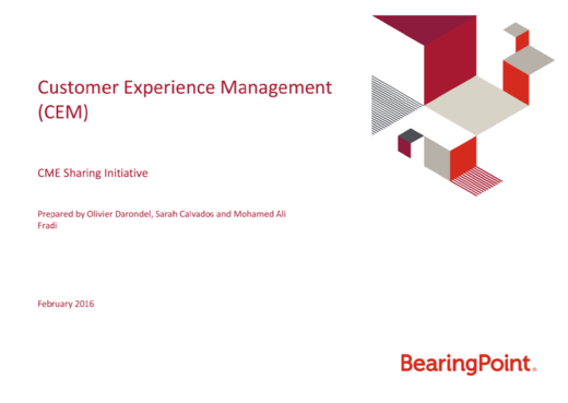 Customer Experience Management (CEM)