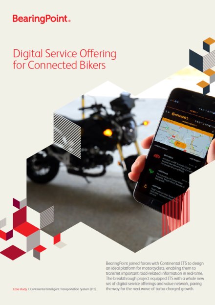 Digital Service Offering for Connected Bikers