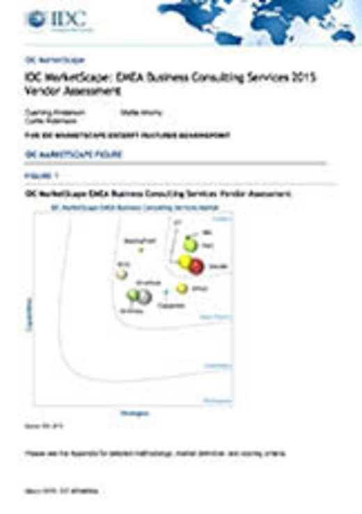 "Excerpt of the ""IDC MarketScape: EMEA Business Consulting Services 2015 Vendor Assessment"""