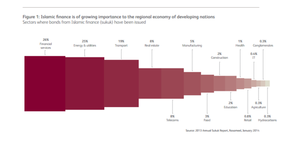Figure1: Islamic finance is of frowing importance to the regional economy of developing nations