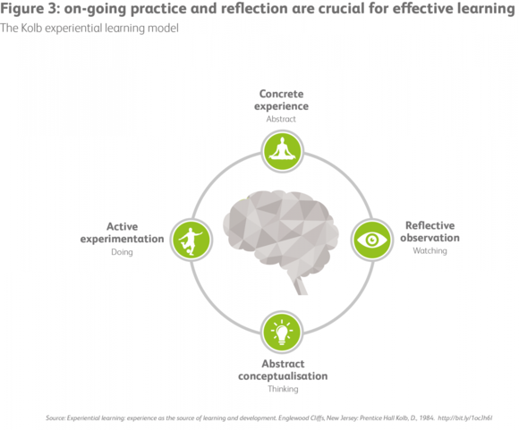 Figure3: On-going- practice and reflection are crucial for effective learning