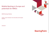 Mobile Banking in Europe and potentials for MNOs