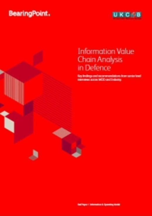 Information Value Chain Analysis in Defence