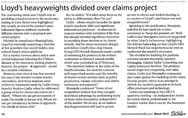 Lloyd's heavyweights divided over claims project