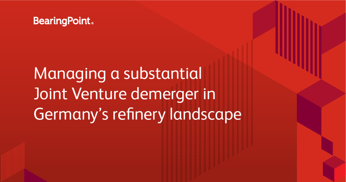 Managing a substantial Joint Venture demerger in Germany's