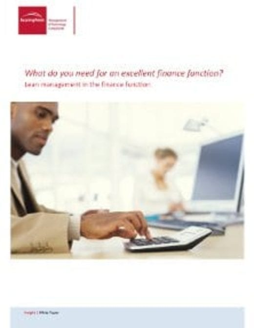 What do you need for an excellent finance function?