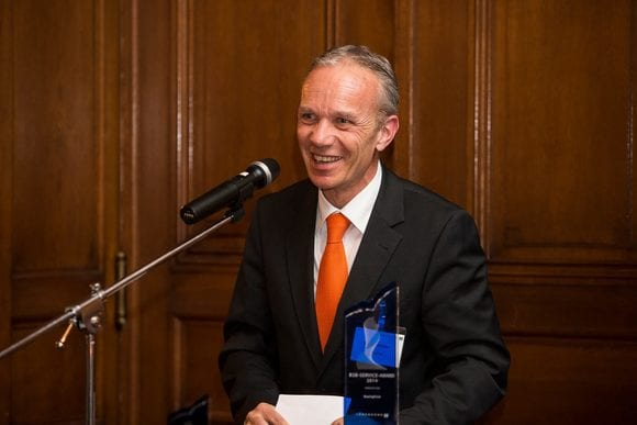 Marcel Nickler, BearingPoint, during his speech at the Lünendonk Innovation Award ceremony. Source: Lünendonk