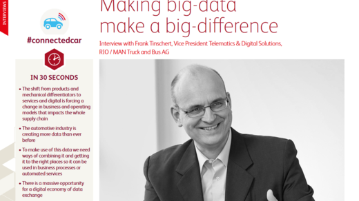 Making big data make a big difference - Interview with Frank Tinschert