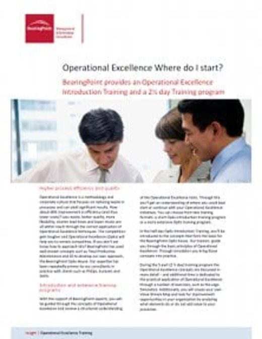 Operational Excellence Where do I start?