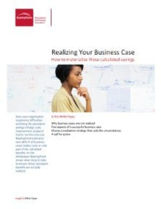 Realizing Your Business Case