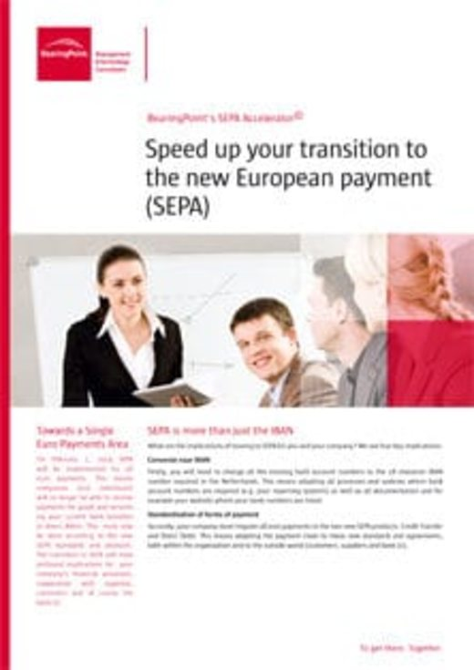 Speed up your transition to the new European payment (SEPA)