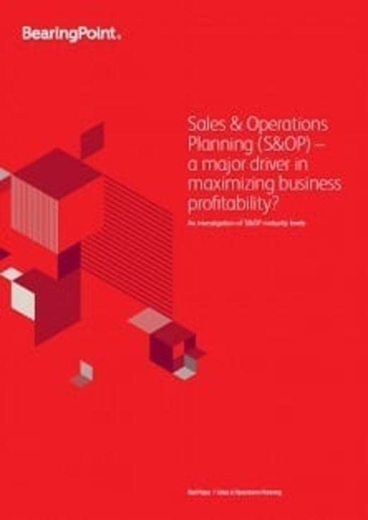 Sales & Operations Planning (S&OP) – a major driver in maximizing business profitability?