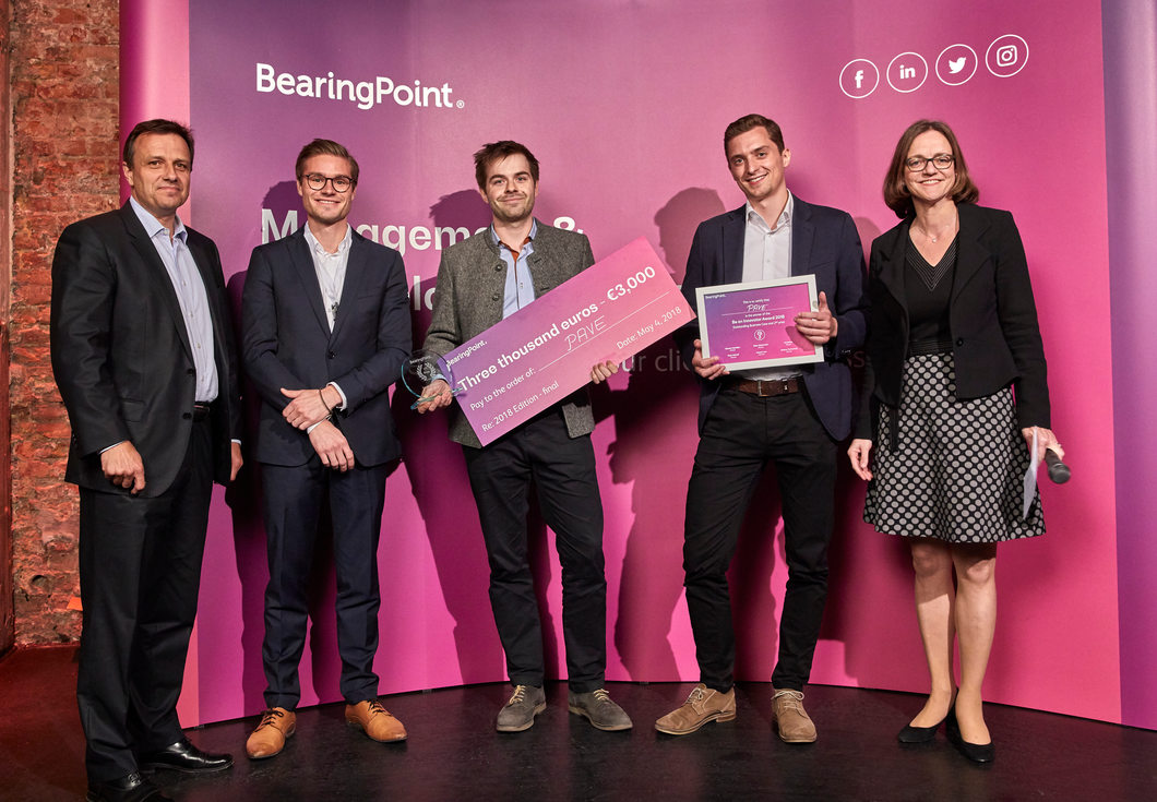 Second prize team Pave - Be an Innovator 2018