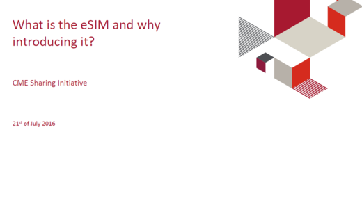 What is the e-Sim and why introducing it ?
