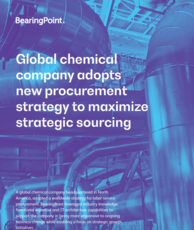 Global chemical company adopts new procurement strategy to maximize strategic sourcing